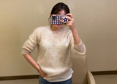 rainbow mohair knit (2color)